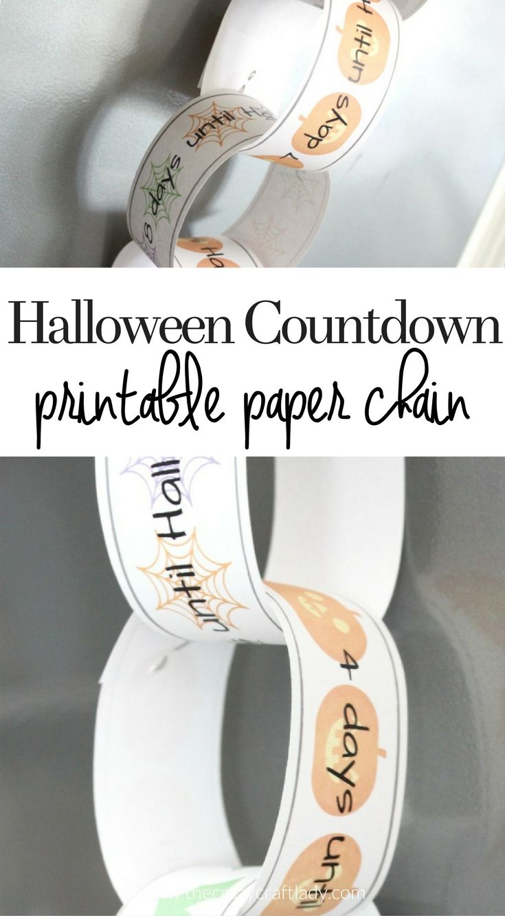 Halloween Countdown Printable Paper Chain The Crazy Craft Lady
