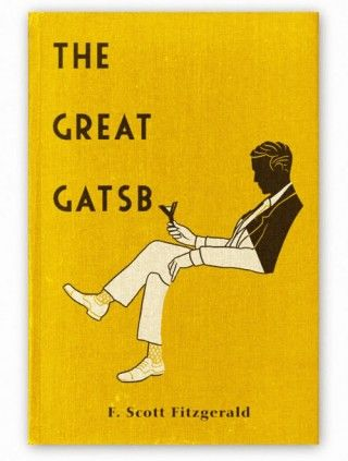 The Great Gatsby. what a cool cover.