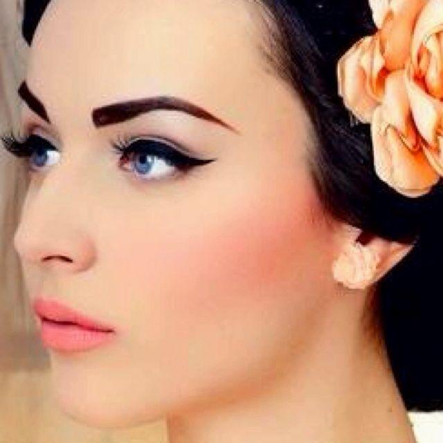 1950 1960 Rock Makeup Ideas Retro Makeup Retro Wedding Makeup Vintage Makeup