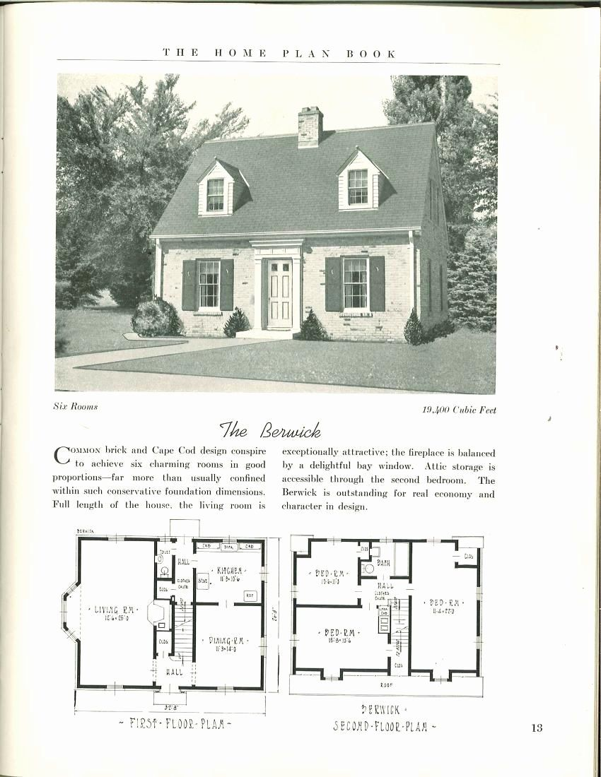 1950s Cape Cod House Plans Best Of The Home Plan Book 49 Designs Home Plan Book Co Free In 2020 House Plans Cape Cod House Plans Vintage House Plans