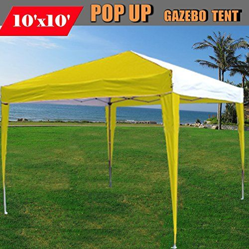 Best C&ing Tents | 10x10 Pop Up Canopy Party Tent Gazebo EZ CS N YellowWhite By DELTA Canopies10x10 Pop Up Canopy Party Tent Gazebo EZ CS N YellowWhite By ... & Best Camping Tents | 10x10 Pop Up Canopy Party Tent Gazebo EZ CS N ...