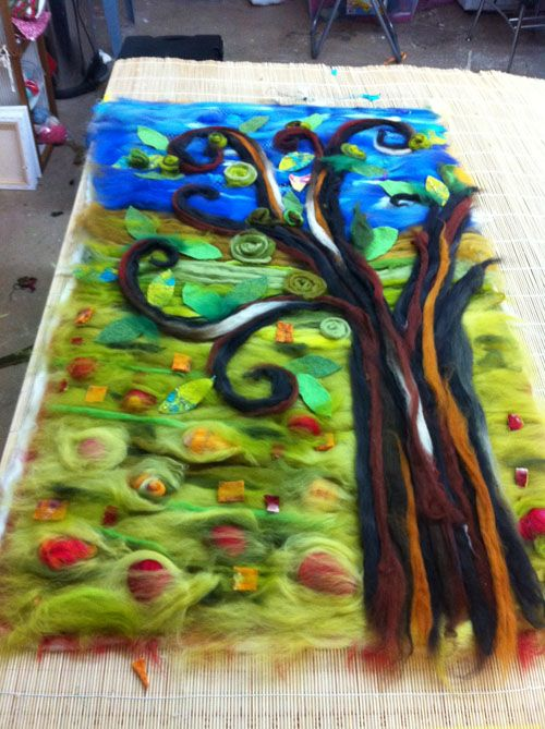 Wet Felting Love Make Think Image Felted Schemelted