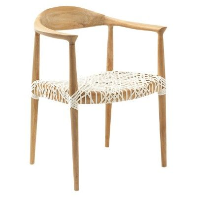 Fes Arm Chair White Teak Safavieh With Images Solid
