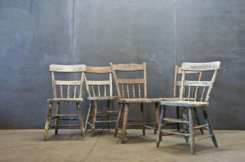 Primitive Farmhouse Craftsman Chair 20th Century Vintage