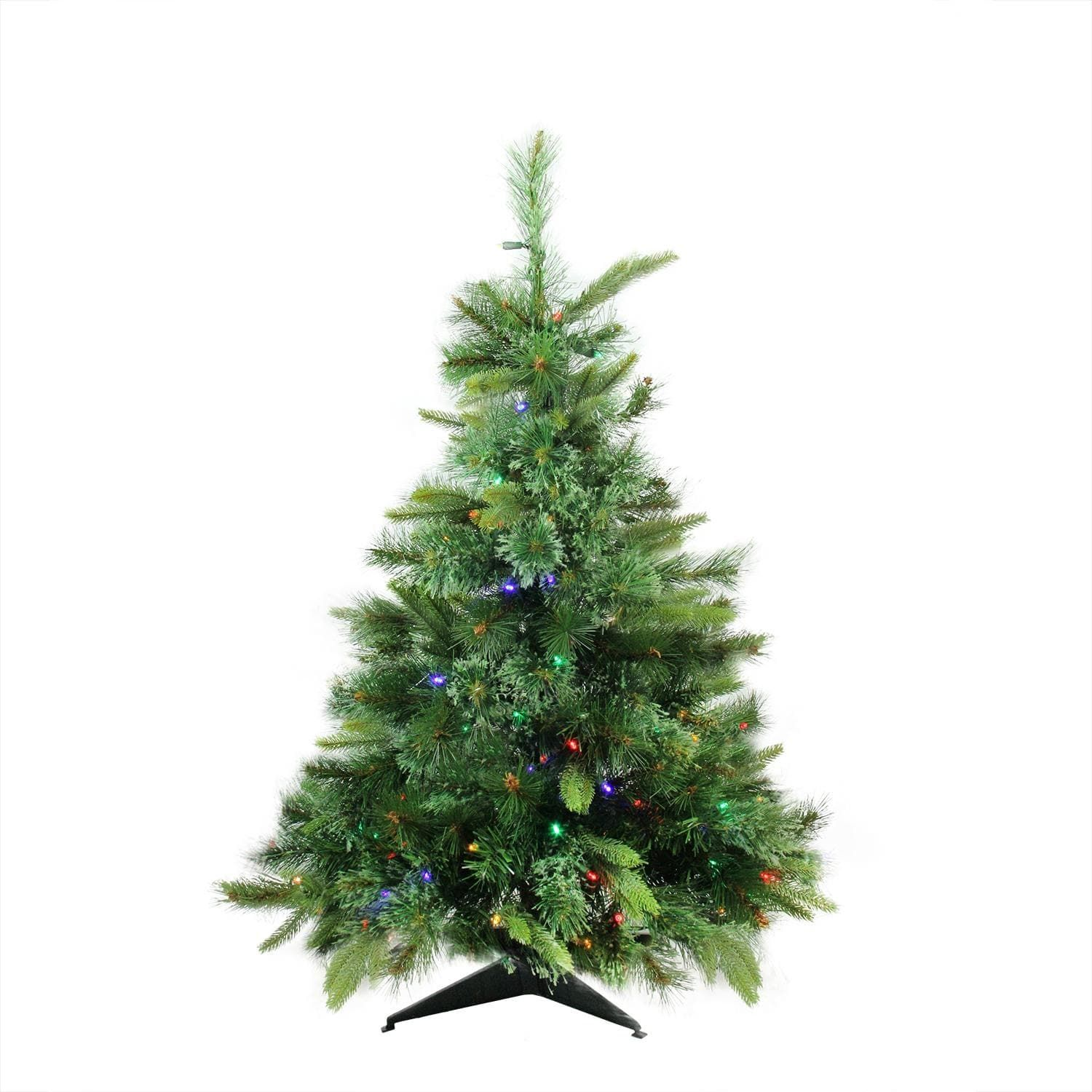 3\' x 29 Pre-Lit Cashmere Mixed Pine (Green) Full Artificial ...