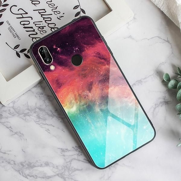 Tempered Glass Case For Samsung Galaxy A50 Feather Print Cover For Sam