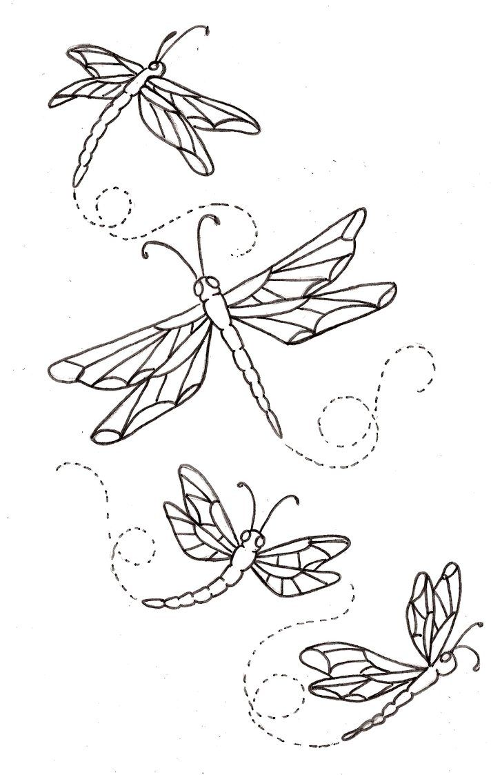 Colour it, sew it, trace it, etc. Dragonfly Drawings ...
