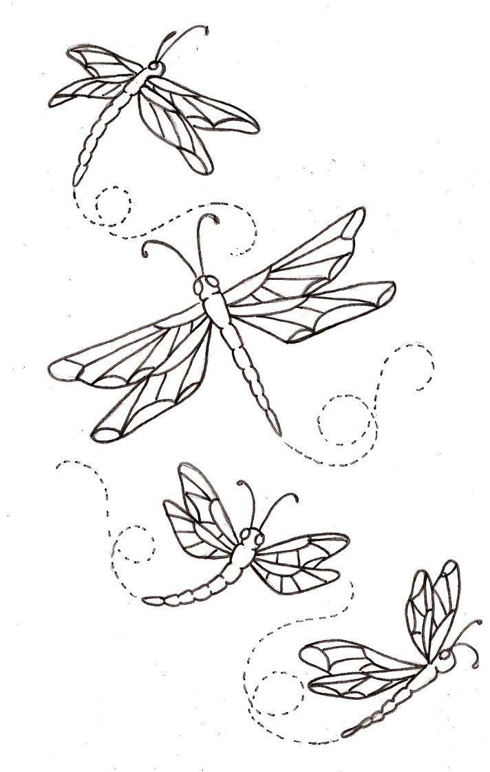 Libellules | Broderie | Pinterest | Bordado, Libélulas y Dibujo