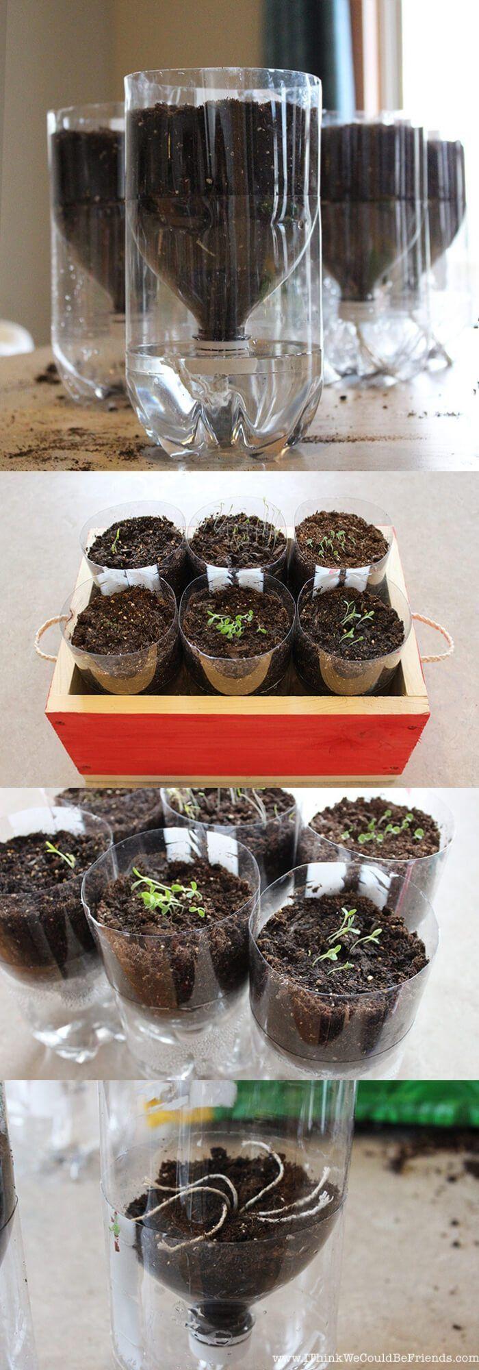 Selbstbewässerung Kräutergarten | Beste DIY Selbstbewässerungssystem-Ideen #b… #herbsgarden