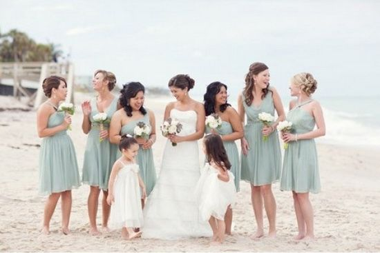A Beach Wedding For Summer? http://dress.vponsale.co.uk/green-bridesmaid-dresses-c-366_373.html