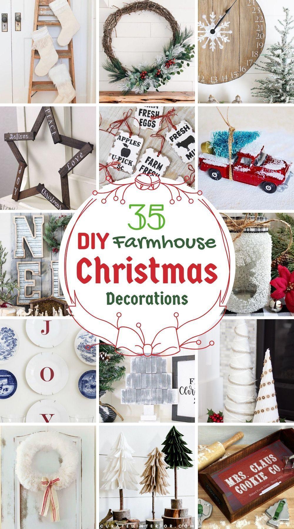 35 Diy Farmhouse Christmas Decorations Christmas Decor Diy Farmhouse Christmas Farmhouse Christmas Decor