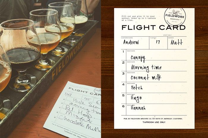 Fieldwork Brewing Co Menu By Gamut To Speed Up Flight Ordering We Came Up With A Custom Taster Tray Solution Using Zinc Brewing Co Beer Menu Taster Tray