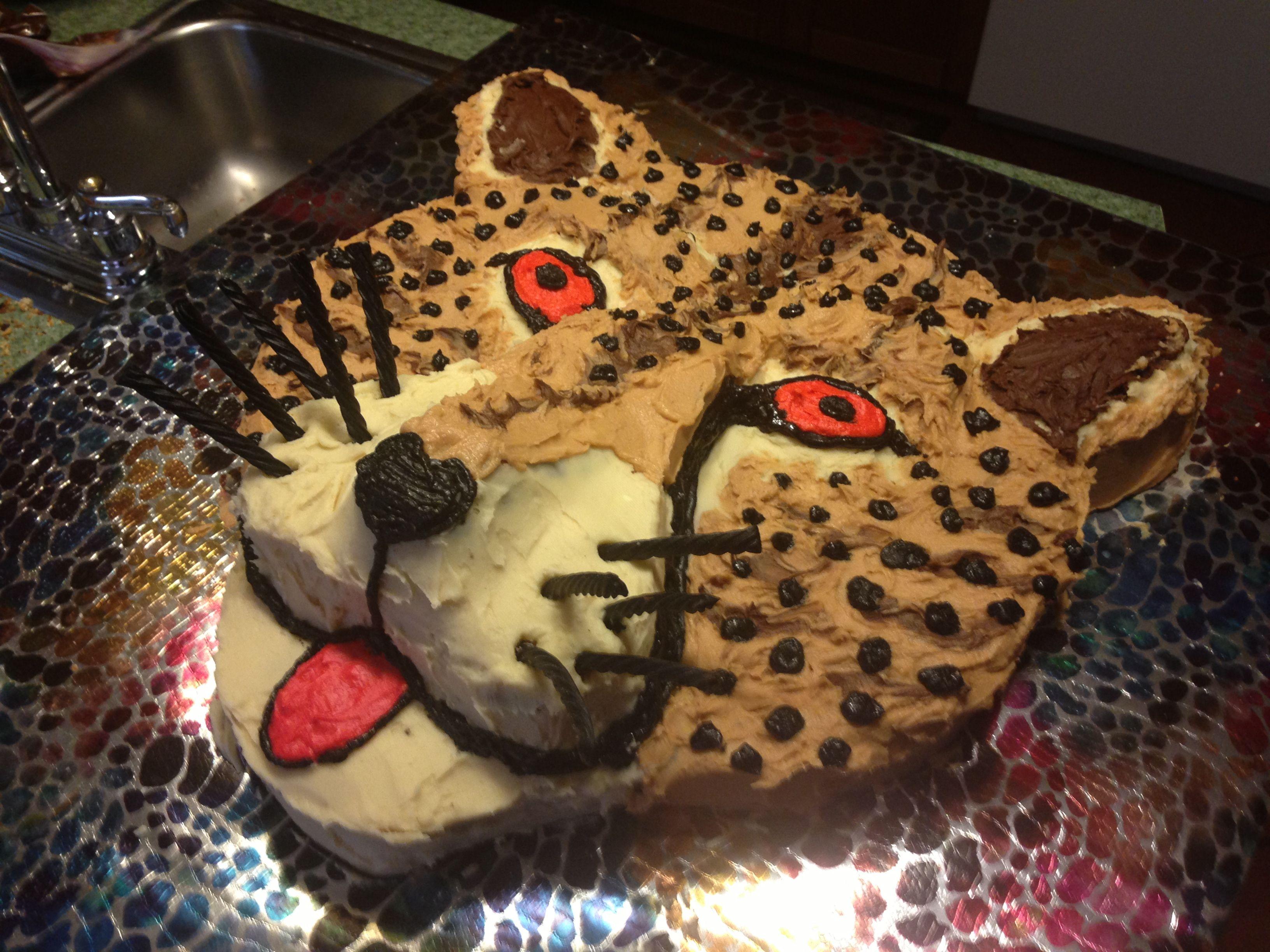 Fine Cheetah Birthday Cake With Images Cheetah Birthday Cakes Funny Birthday Cards Online Benoljebrpdamsfinfo