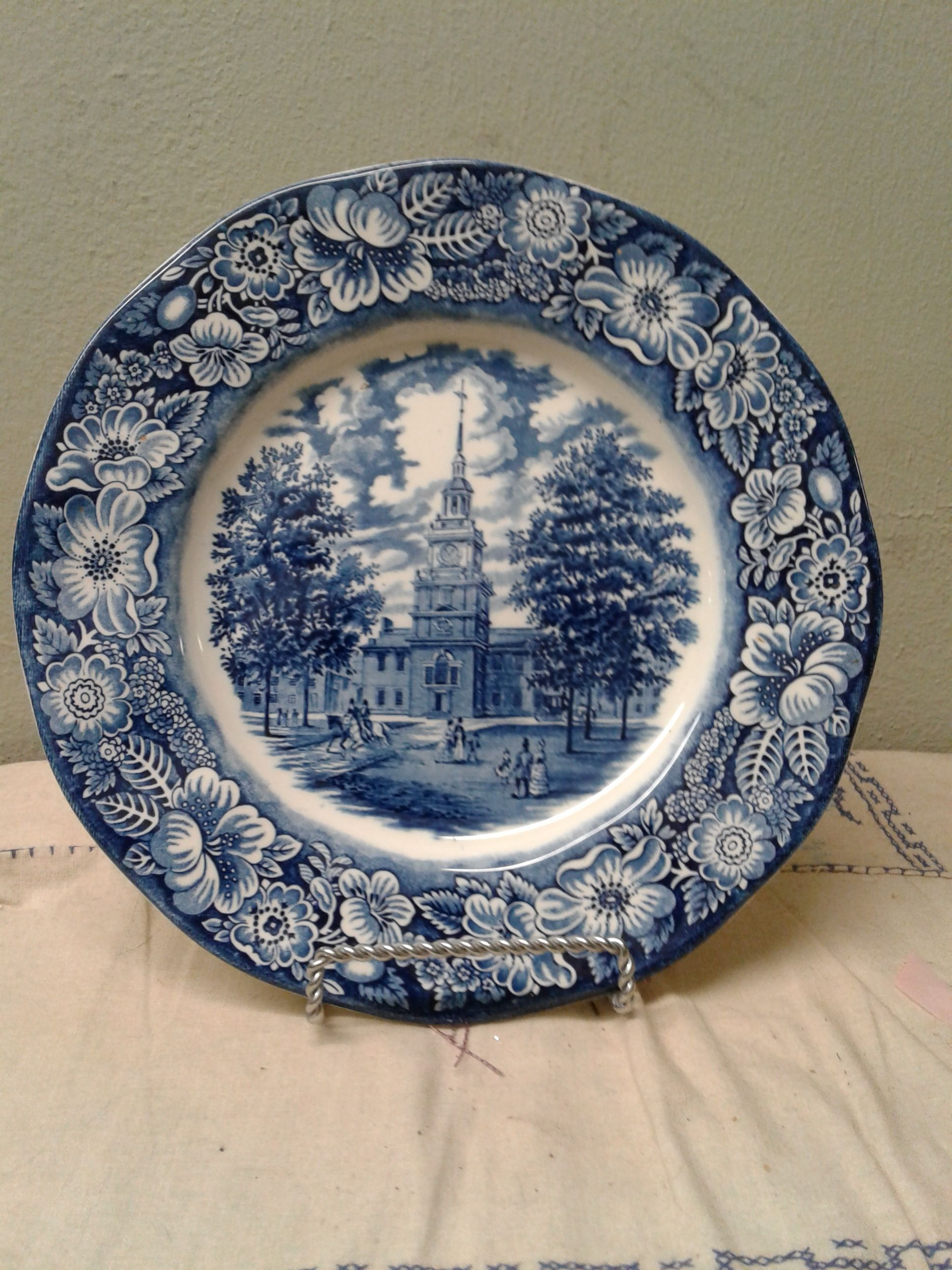 Liberty Blue Staffordshire Ironstone Bread Butter Plate England Dishwasher safe