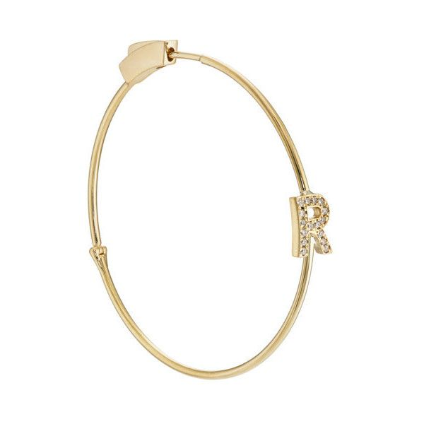 Jennifer Meyer Womens Initial Hoop Earring