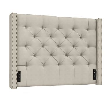 Harper Upholstered Tufted Low Headboard, California King, Sunbrella ...