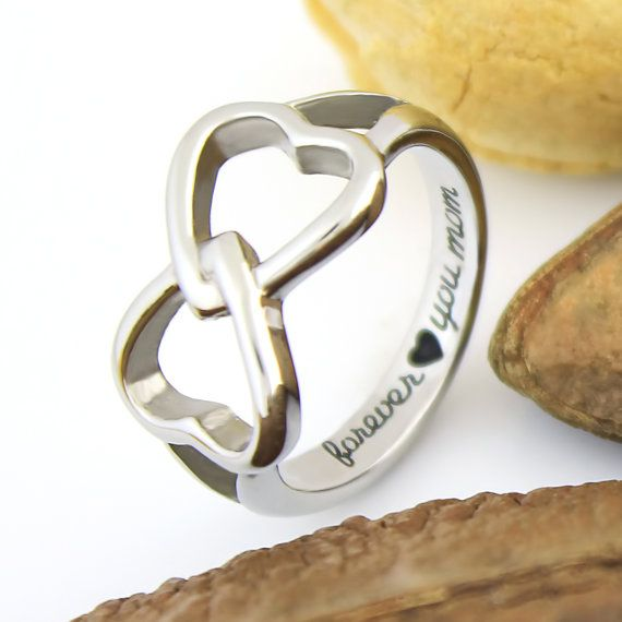 ring mother s infinity with personalized birthstones platinum mothers plated