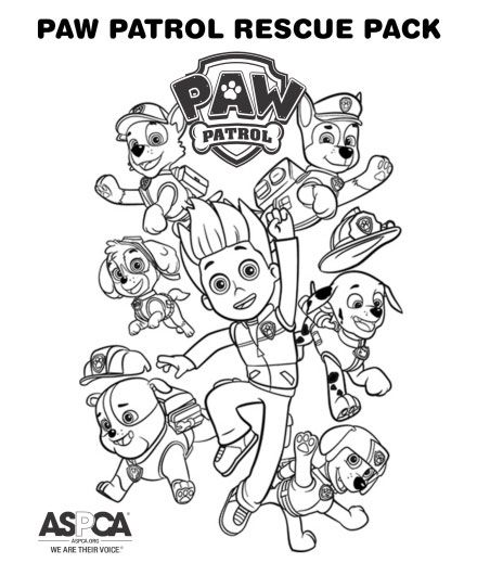 Paw Patrol Rescue Pack Paw Patrol Coloring Pages Paw Patrol Coloring Paw Patrol Cartoon