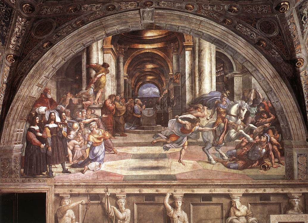 Paintings Raphael Heliodorus The TempleAltarItalian RenaissanceRenaissance