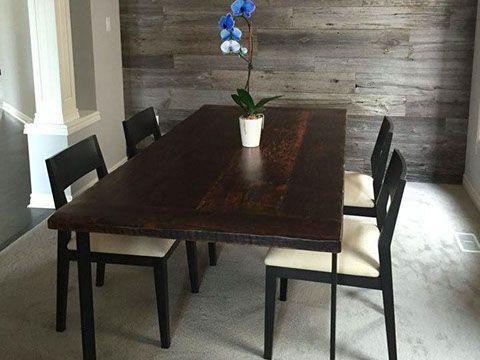 Custom Reclaimed Live Edge Barn Wood Steel Metal Flat Square X Table Furniture Kitchener Toronto
