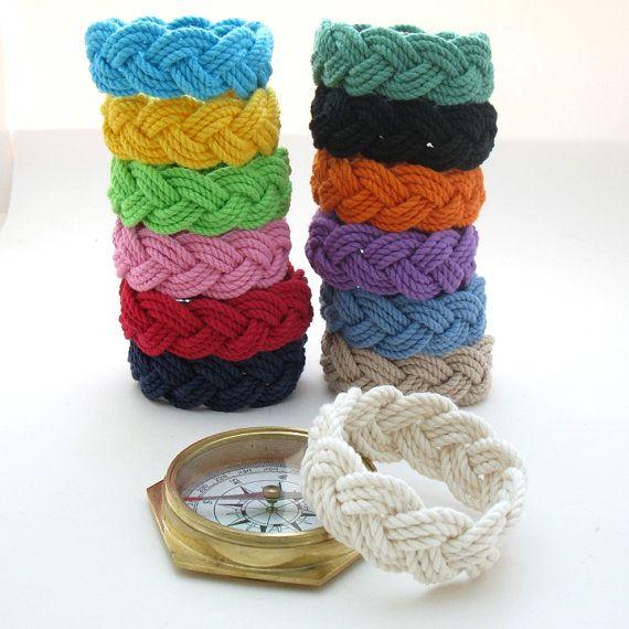 13 Colors Sailor Knot Bracelet Cotton Rope Bracelet You Choose