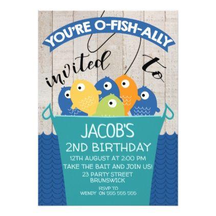 O-Fish-ally Invited Boyu0027s Birthday Invitation - birthday cards - invitation to a party
