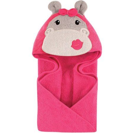 dc39120e3 Hudson Baby Woven Terry Animal Hooded Towel, Hip Hippo in 2019 ...