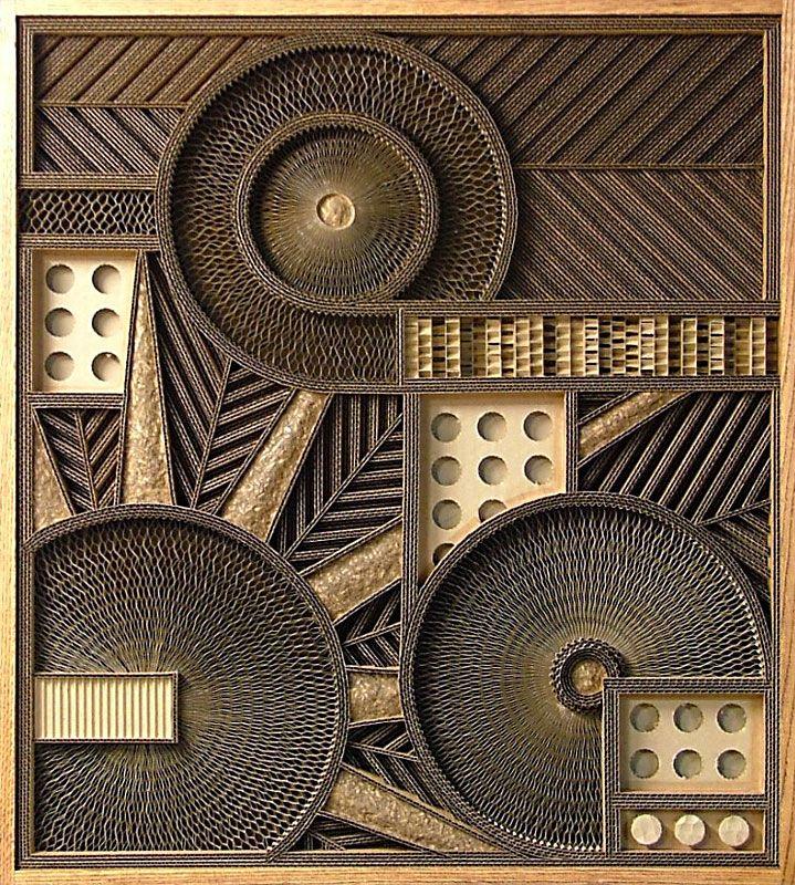 Corrugated Art By Mark Langan Art I Like Cardboard Art