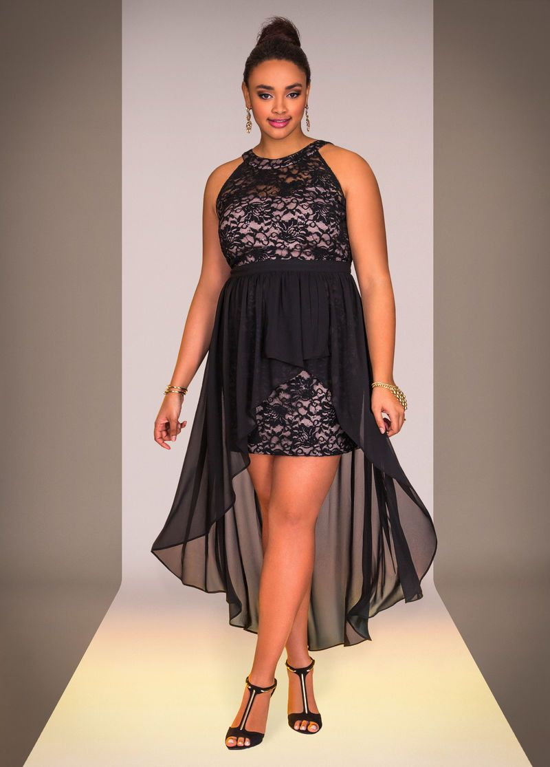 Lace Halter Hilo Dress Ashley Stewart Womens Plus Size Fashions
