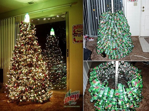 10 Most Creative Christmas Trees Made Using Recycled Materials Greendiary Greendia Unusual Christmas Trees Recycled Christmas Tree Creative Christmas Trees