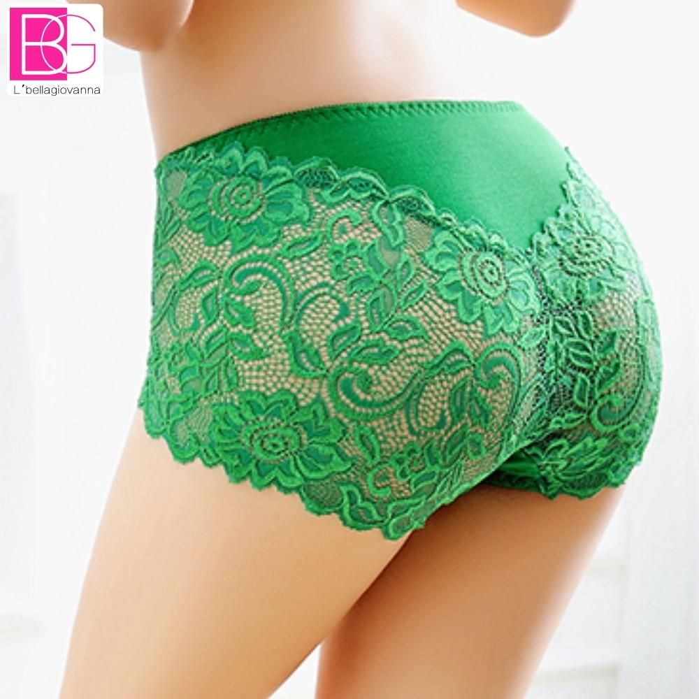3e351c74d7fc 5pcs/lot Sexy Brand Underwear Women Boxer Lace Panties Boyshorts Female  Knickers Full Lace Transparent Cotton Underwear 8030P5
