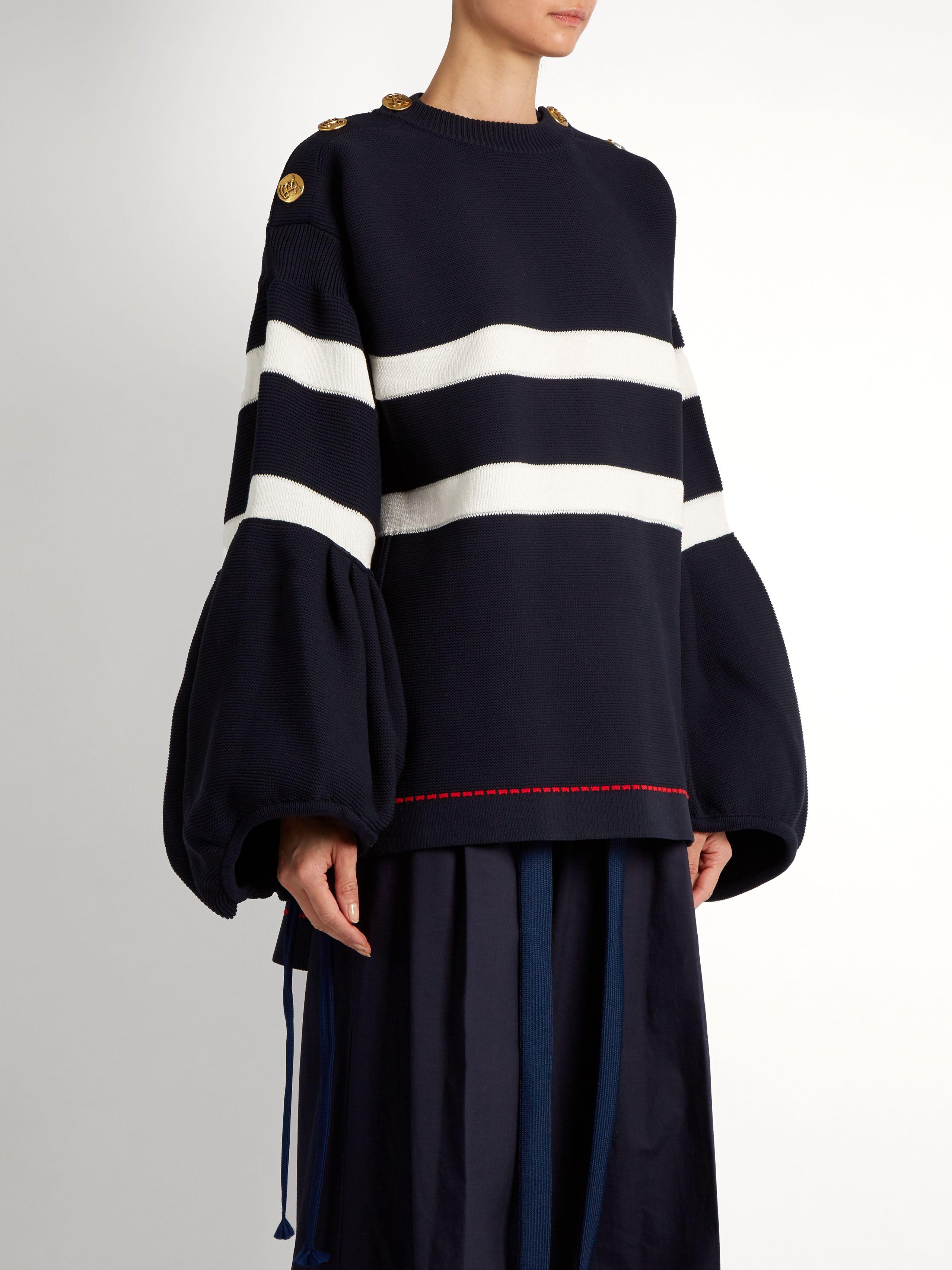 Balloon-sleeved striped sweater | Sonia Rykiel | MATCHESFASHION.COM US