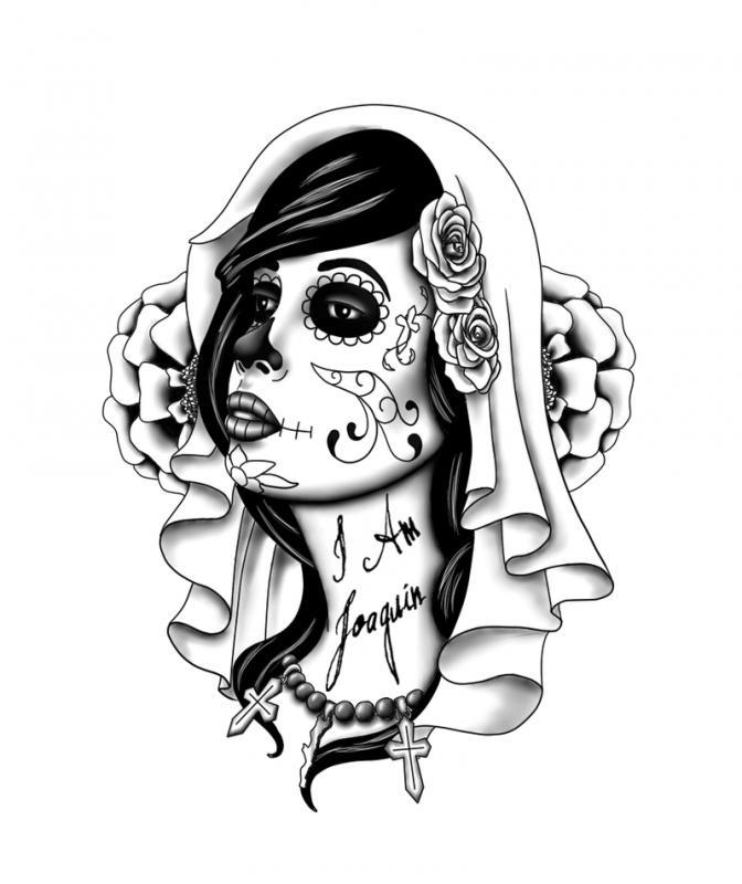 zombie woman tattoo design - google search | tattoos | tattoos, day