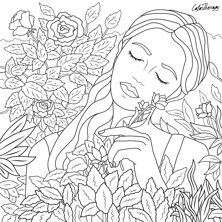 I Colored This Myself Using Color Therapy App For Iphone And Ipad It S So Fun And Relaxing Try This A Free Coloring Pages Dover Coloring Pages Coloring Books