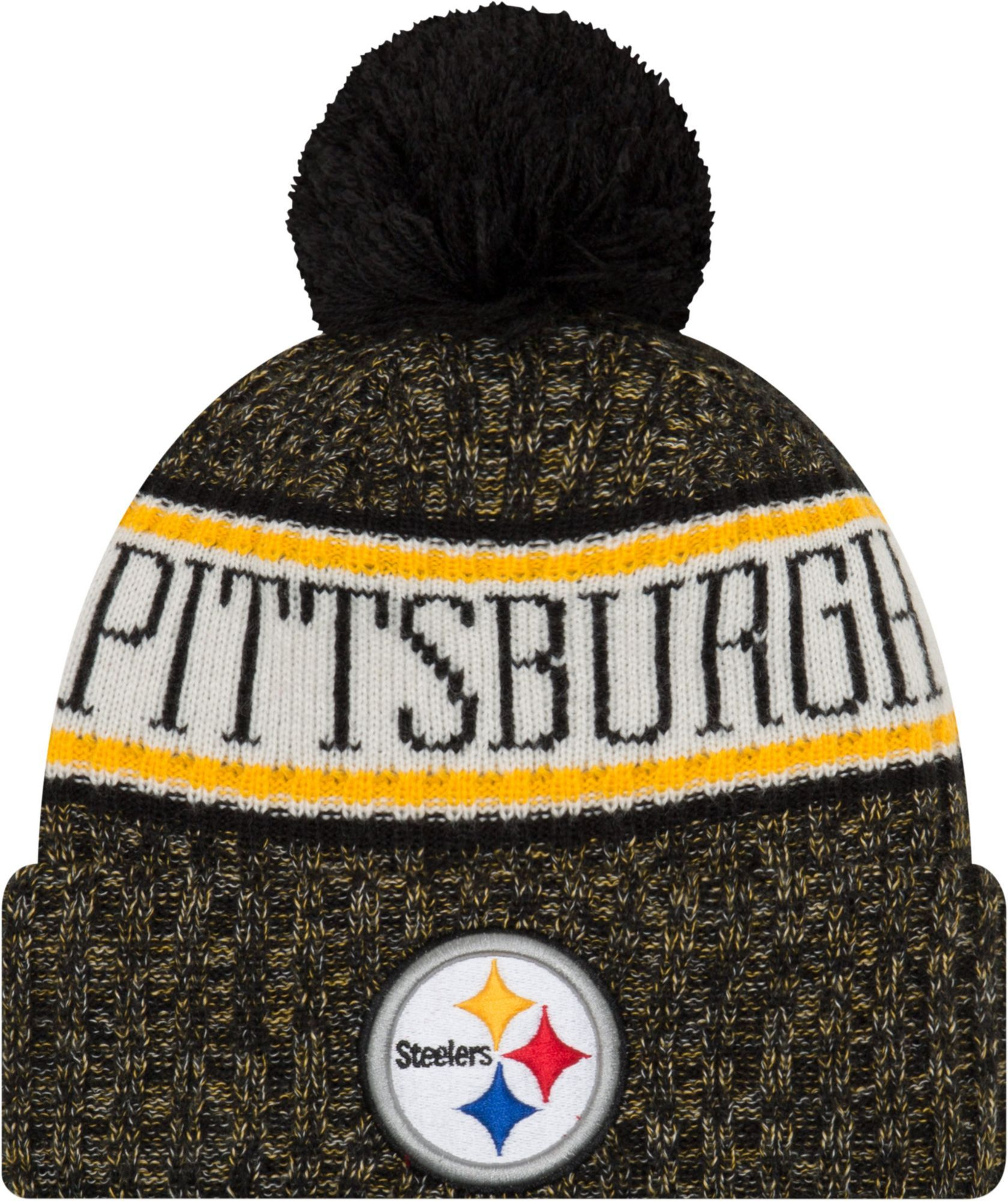 New Era Men s Pittsburgh Sideline Cold Weather Black Sport Knit in ... a3ef56edc