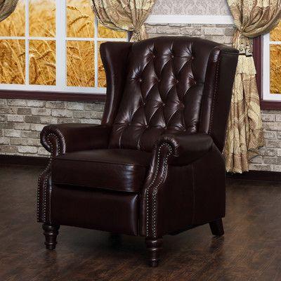 Lazzaro Leather Recliner U0026 Reviews | Wayfair