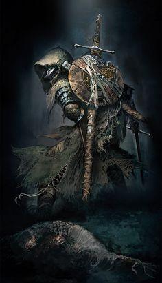 Fine Art Print Dark Souls III - Unframed - 15 x 26 inch - Fallen Knight