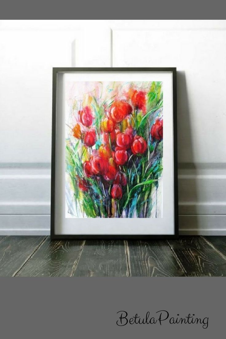 watercolor flower painting abstract flower art floral wall decor