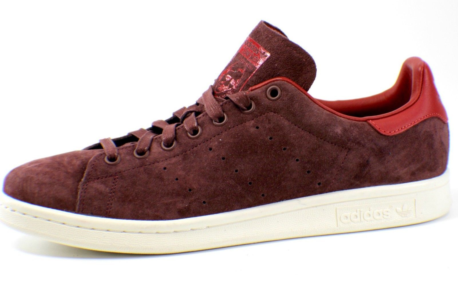 Details about Adidas Stan Smith Suede Suede Sneaker Shoe Fox Brown Burgundy M17924