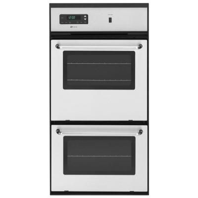 Maytag 24 In Single Gas Wall Oven In Stainless Steel Cwg3600aas The Home Depot Gas Wall Oven Single Electric Wall Oven Gas Double Wall Oven