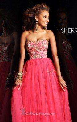 Beaded Sweetheart Dress by Sherri Hill 21059