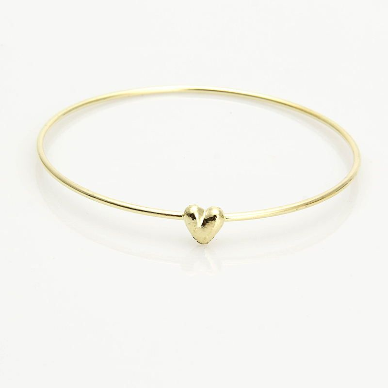 Women Gold Plated Very Simple Heart Shape Love Cuff Bracelet Bangle Cute  Lady Girl Party Prom Christmas Gift Pulseiras Feminina   Price   7.95    FREE ... 703239a58088