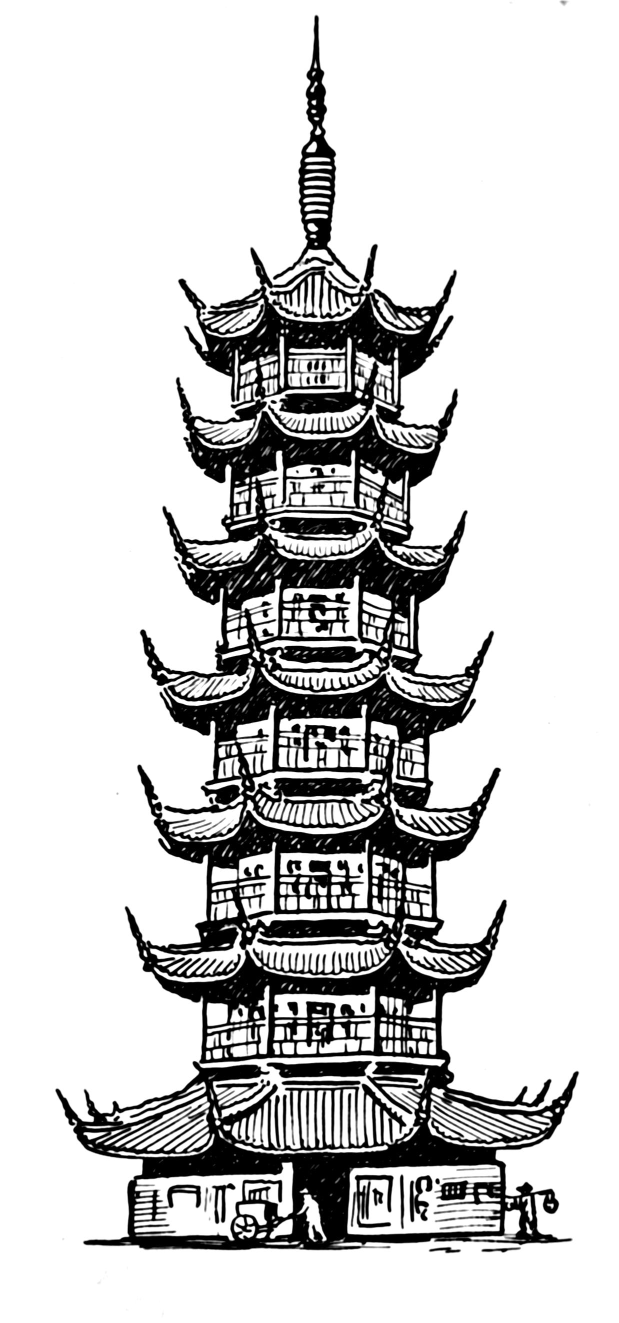 Pagoda Line Art FilePagoda PSFpng Wikimedia