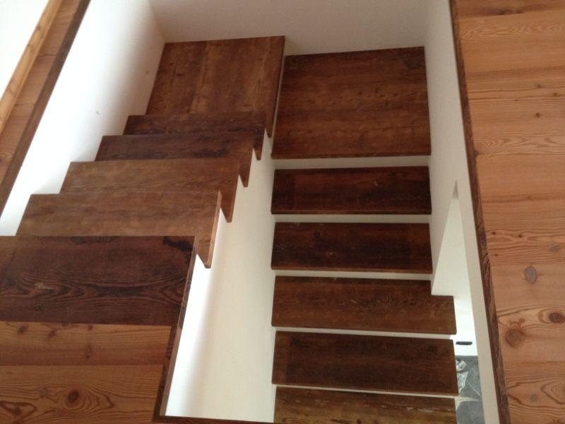 Scaletta In Legno Antica : Scala in larice antico patina rowerpavimenti scale in legno