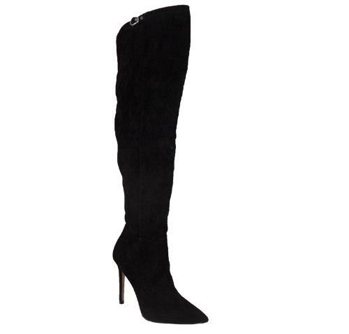 Womens Over The Knee Thigh High Stiletto Heel Ladies Stretch Calf Boots 3-8