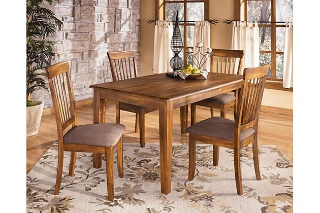 Rustic Brown Berringer Dining Room Chair View 1