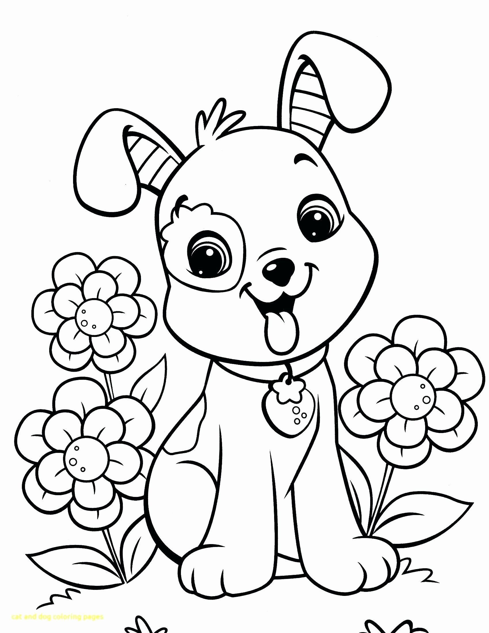Cat Coloring Pages Online In 2020 Puppy Coloring Pages Valentine Coloring Pages Dog Coloring Page