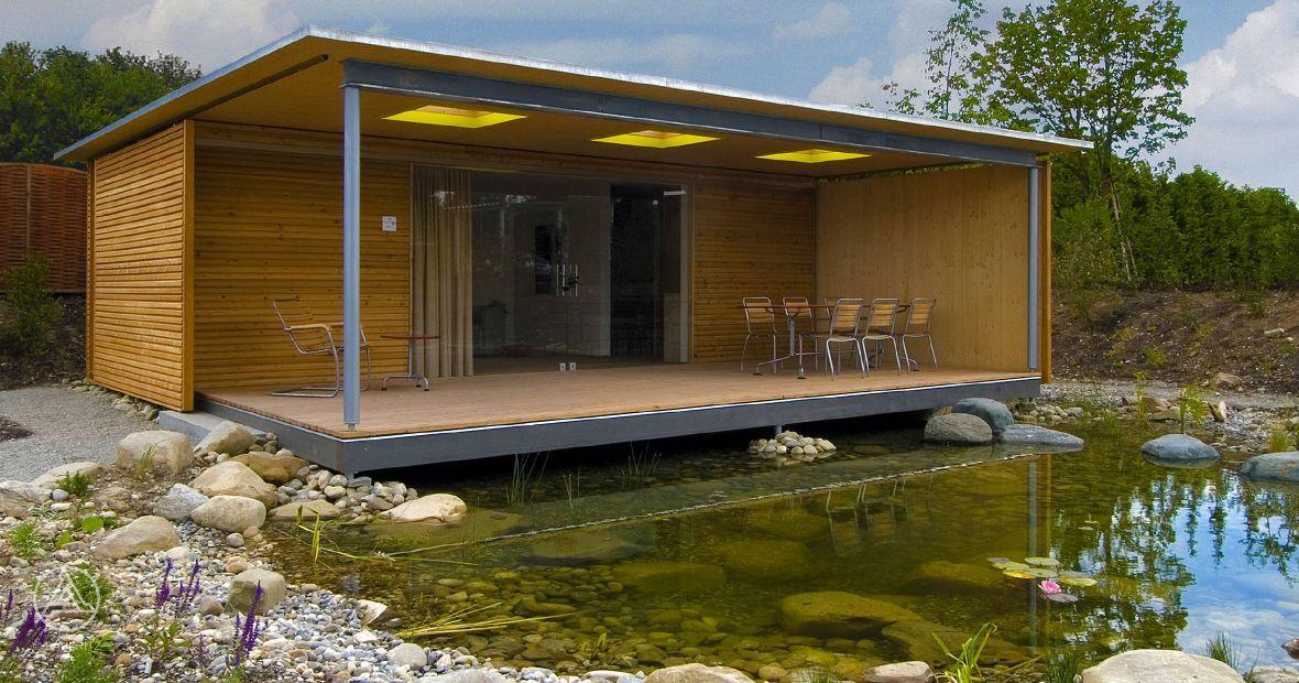 dieses modul haus wird innerhalb weniger stunden aufgebaut wie ein kleiner luxus bungalow. Black Bedroom Furniture Sets. Home Design Ideas