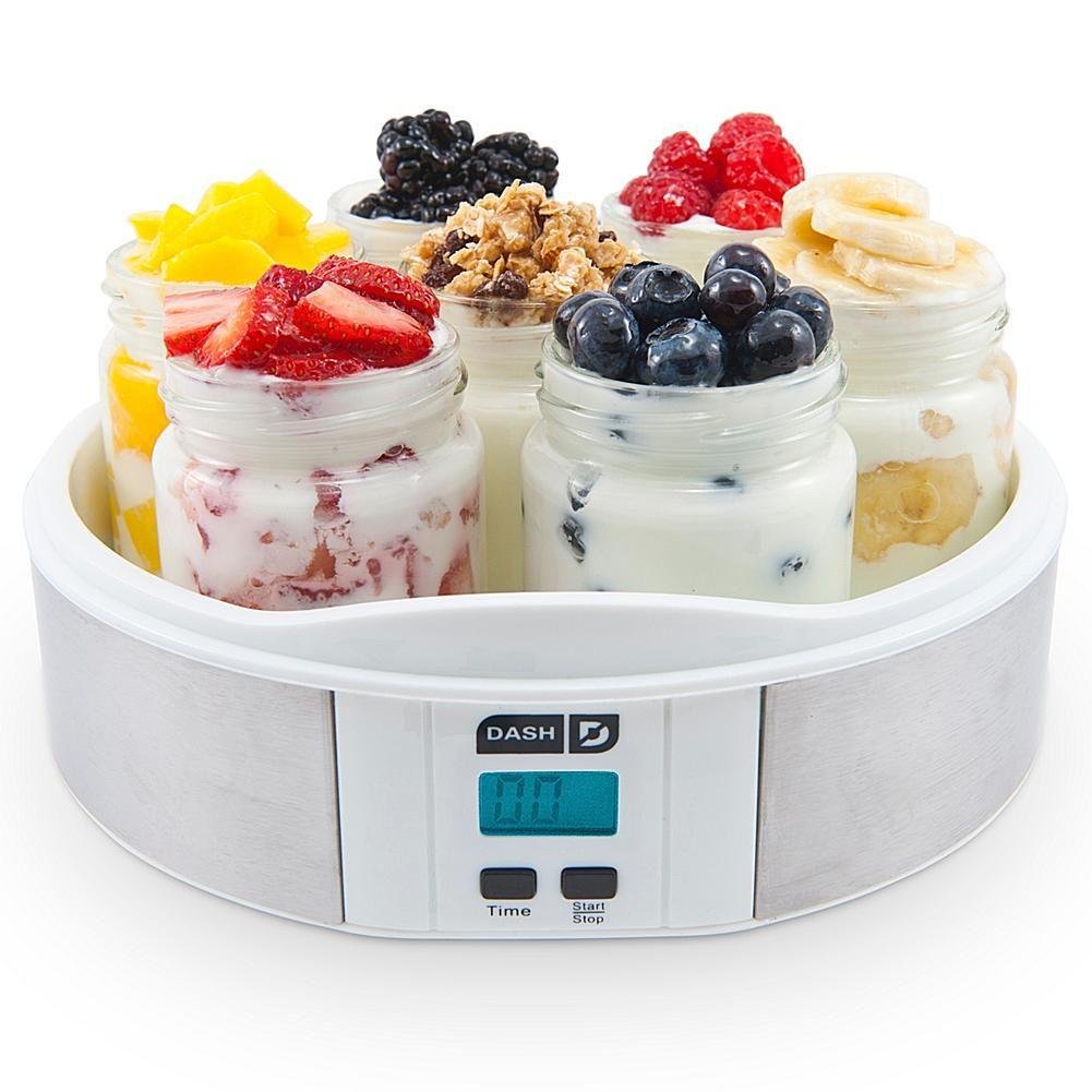 Dash Kitchen Dash Yogurt Maker With Seven Jars Chrome