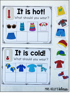 dressing for the weather temperature discussions for a weather unit kinderland collaborative. Black Bedroom Furniture Sets. Home Design Ideas